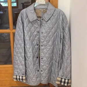 Burberry silver quilt jacket New